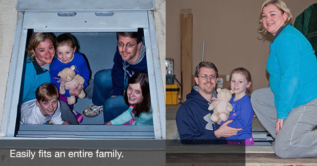 Shelters fit entire family