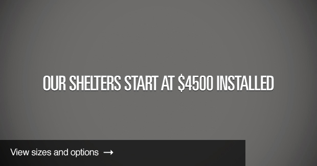 Tornado Shelters start at $4,500 installed